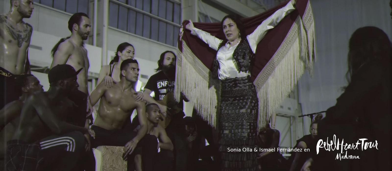 Sonia Olla & Ismael Fenández en Rebel Heart Tour Madonna