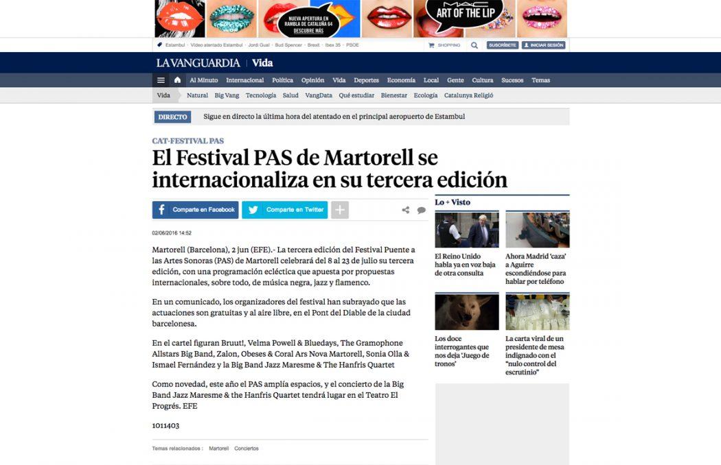 El Festival PAS de Martorell se internacionaliza en su tercera edición