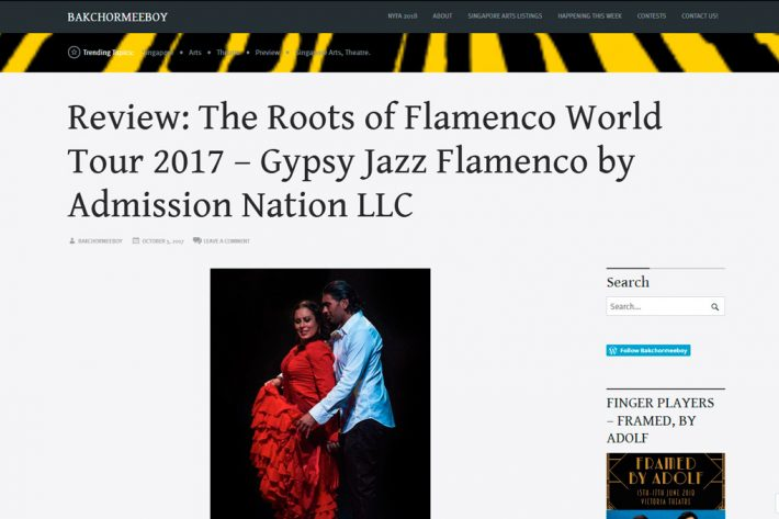 Review: The Roots of Flamenco World Tour 2017 – Gypsy Jazz Flamenco by Admission Nation LLC